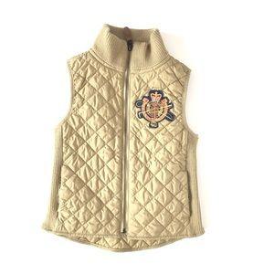 Ralph Lauren girls diamond quilted vest  M 8/10